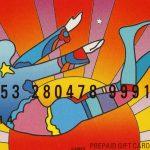 Peter Max. Gift Cards, 2009, cm 5,5 x 8,5. Stampa digitale su card di plastica American Express