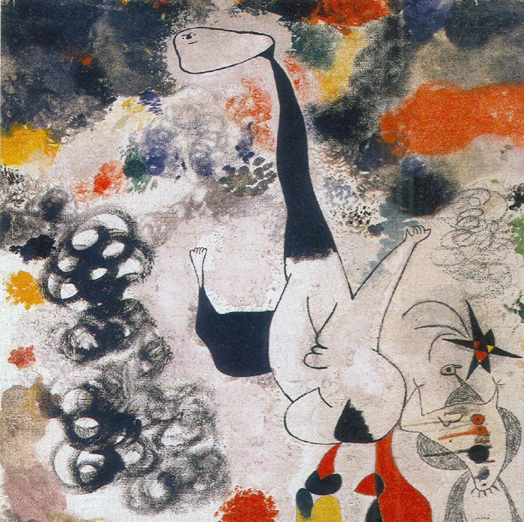 Joan Mirò. Stelle cadenti, 1938. Olio su tela. National Gallery of Art di Washington, regalo di Joseph H. Hazen