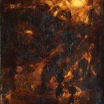 Tracce di contemporaneo. Piero Manzoni. Senza Titolo, 1956-57. Olio e catrame su tela. Credits: Collezione privata
