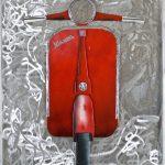 Marcello Reboani. Vespa, 2011. Ferro, legno, smalti, cm. 102 x 725