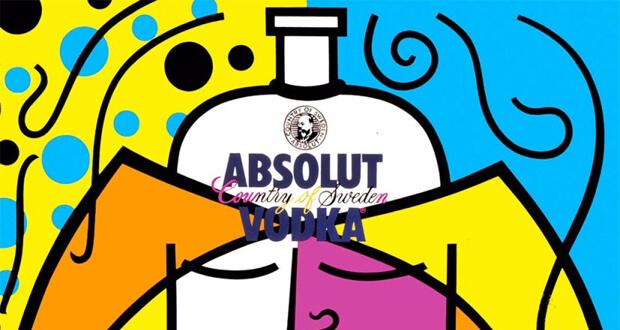 Romero Britto. Absolute II, (dettaglio) 1989, per Absolute Vodka