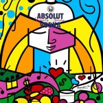 Romero Britto. Absolute II, 1989, per Absolute Vodka