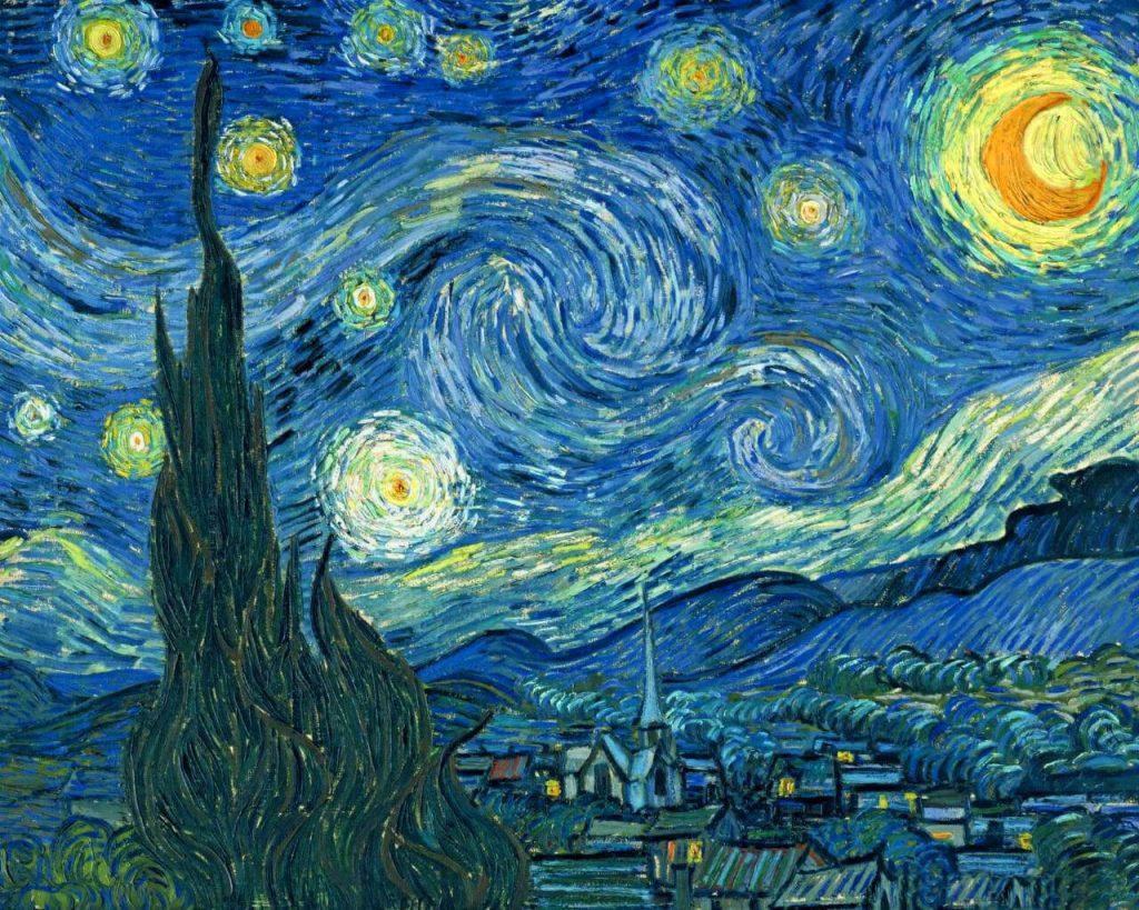 Vincent van Gogh. Notte stellata, 1889. Olio su tela, cm. 92 x 74. Museum of Modern Art - MoMA, N.Y.