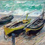 Claude Monet. Tre barche da pesca, 1885. Olio su tela, cm. 73 x 9 2,5