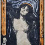 Edvard Munch. Madonna II, 1895-1902. Litografia colorata a mano, cm. 60,5 x 44,5. Collezione privata. Ars Longa, Vita Brevis/Tor Petter Mygland, Oslo. Photo: © Katarte.it