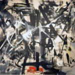 Emilio Vedova. Crocifissione Contemporanea - Ciclo della protesta N.4, 1953. Olio su tela, cm. 130 x 170. Galleria Nazionale d'Arte Moderna e Contemporanea, Roma. Photo: © Katarte.it