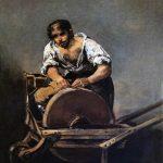 Fransisco Goya. L'arrotino, 1812. Olio su tela, cm. 68 x 50. Museo di Belle Arti di Budapest