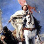 Gianbattista Tiepolo. San Giacomo Maggiore conquistatore dei mori, 1749 - 1750. Olio su tela, cm. 317 × 163. Museo di Belle Arti di Budapest