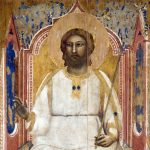 Giotto. Dio Padre in trono particolare, 1303-1305 ca. Tempera e oro su tavola. Cappella degli Scrovegni, Padova