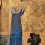Giotto. Polittico Stefaneschi. Il velo di Plautilla, particolare dal verso