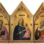 Polittico di Badia, 1295 - 1300. Tempera e oro su tavola. Firenze, Galleria degli Uffizi
