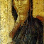 Giotto. Madonna di Borgo San Lorenzo, 1290-1295 circa. Tecnica tempera e oro su tavola. Pieve di San Lorenzo, Borgo San Lorenzo, Firenze