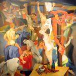 Renato Guttuso. Crocifissione, 1940-1941. Olio su tela, cm. 198,5 x 198,5. Roma, GNAM - Galleria Nazionale d'Arte Moderna e Contemporanea. © Renato Guttuso, by SIAE 2015. Photo: © Katarte.it