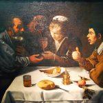 Velázquez. Cena nella taverna, 1618-1619 ca. Olio su tela, cm. 96 × 112. Museo di Belle Arti di Budapest