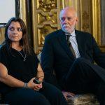 Francesca Lavazza, Direttore Corporate Image Lavazza con il Direttore del Guggenheim Richard Armstrong