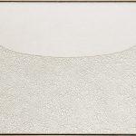 Alberto Burri. Grande bianco, 1974. Acrilico e PVA in Cellotex, cm. 126 x 211. Fondazione Palazzo Albizzi, Collezione Burri, Città di Castello, Italy