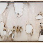 Alberto Burri. Grande bianco plastica, 1964. Plastica e combustione su telaio in alluminio, cm. 191,8 x 292,1. Glenstone. © Fondazione Palazzo Albizzini Collezione Burri, Città di Castello, Italy/2015 Artists Rights Society (ARS), New York/SIAE, Rome/SIAE, Rome