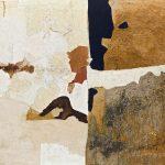 Alberto Burri. Muffa T, 1952. Olio, PVA, pomice, sabbia e gommalacca su tela, cm. 90,2 x 110,5. Godwin-Ternbach Museum, Queens College, City University di New York (CUNY), regalo di G. David Thompson