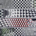 Escher. Metamorfosi II, 1939–1940. Incisione, cm. 19.2 cm × 389.5