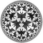 Escher. Angeli e Diavoli. Limite del cerchio IV, 1941