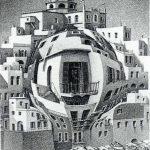 Escher. Balcone, 1945. Litografia