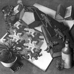 Maurits Cornelis Escher. Rettili, 1943. Litografia, cm 33,5 x 38,5. Fondazione M.C.Escher