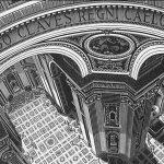 Escher. San Pietro, Roma, 1935. Xilografia
