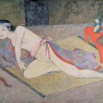 Balthus. La giapponese con la tavola rossa, 1967-1976. Caseina e tempera su tela, cm. 145 X 192. Collezione privata © Balthus Pierre Matisse Gallery, New York, USA / Bridgeman Images