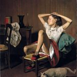 Balthus. Thérèse sognante, 1938. Olio su tela, cm. 149.9 x 129.5. Jacques and Natasha Gelman Collection, 1998. The Metropolitan Museum of Art, New York