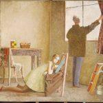 Balthus. Il pitttore e la sua modella, 1980 - 1981. Caseina e tempera su tela, cm. 226,5 x 230,5. Acquistato 1982, Centre Pompidou Musée national d'Art modérne, Parigi © Balthus Grand Palais/Droits réservés