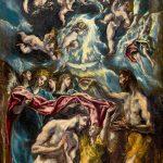 El Greco. Battesimo di Cristo 1597 - 1600. Olio su tela, cm. 350 X 144. Museo del Prado, Madrid