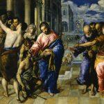 El Greco in Italia. El Greco. Guarigione del cieco,1573 - 1574. Olio su tela, cm. 50 X61. GalleriaNazionale, Parma