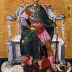 El Greco in Italia. El Greco. San Demetrio, 1563-1565. Supporto ligneo, cipresso, cm. 27,4 X 21,9 X 2,6. Collezione Privata