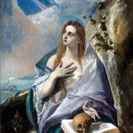 El Greco in Italia. El Greco. Santa Maddalena Penitente, 1577 ca. Olio su tela, cm. 57 X 44. Museo di Belle Arti, Budapest