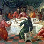 El Greco in Italia. El Greco. Ultima cena,1568 - 1570. Tempera su tavola, cm.42,5 x51. Pinacoteca Nazionale, Bologna