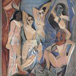 El Greco in Italia. Pablo Picasso. Les Demoiselles d'Avignon, 1958. Gouache su carta, cm. 2,53 X 2,33. Collezione privata