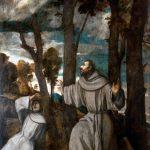 El Greco in Italia. Tiziano Vecellio. San Francesco riceve le stimmate, 1525 ca. Olio su tela, cm. 272 X 202. Museo Regionale Agostino Pepoli, Trapani. Foto:Paolo Cracchiolo