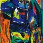 Asger Jorn. Senza difesa, 1968. Olio su tela. Cortesia de La Galleria di Francoforte sul Meno © Dono Jorn, Silkeborg by SIAE 2015 per Asger Jorn