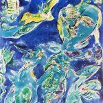 Carl Henning Pedersen. Tremare dal freddo (l'ammiratore), 1984. Olio su tela. Cortesia de La Galleria di Francoforte sul Meno © Carl Henning Pedersen by SIAE 2015
