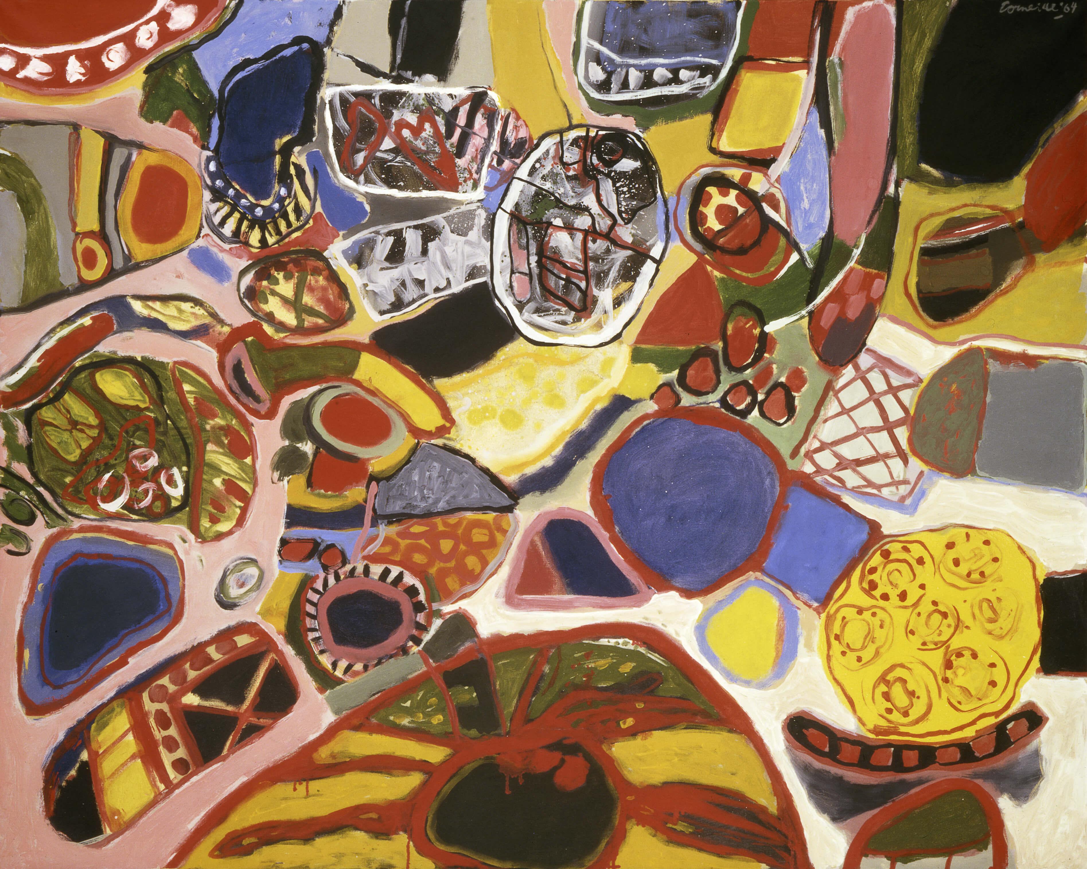 Corneille. La grande sinfonia solare, 1964. Olio su tela, cm. 129,6 x 162. Collezione Peggy Guggenheim, Venezia. © Guillaume Corneille, by SIAE 2008