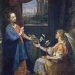 Federico Barocci. Annunciazione, 1582 - 1584. Olio su tela, cm.248 x 170. Pinacoteca dei Musei Vaticani, Città del Vaticano