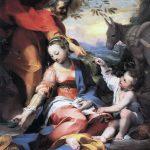 Federico Barocci. Riposo durante la fuga in Egitto (conosciuto anche come la Madonna delle ciliegie), 1570 - 1573. Olio su tela, cm. 133 x 110