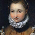 Federico Barocci. Ritratto di una giovane donna. Olio su tela, cm. 45 x 33. Galleria degli Uffizi, Firenze