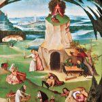 Hieronymus Bosch. I sette peccati capitali, 1500 – 1515. Olio su tavola, cm. 86,5 x 56. Fondazione Belle Arti, Ginevra