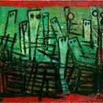 Karel Appel. Bambini mendicanti, 1948. Olio su tela. La Galleria Francoforte sul fiume Meno. Appel Foundation © Karel dalla SIAE 2015 per Karel Appel