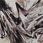 Karl Otto Götz. Stördö, 1957. Materiali misti su tela, cm. 145 x 175. La Galleria di Francoforte sul Meno. © Karl Otto Götz by SIAE 2015