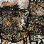 Lucebert. Bestia e bambino, 1960. Olio su tela. Stedelijk Museum © Lucebert dalla SIAE 2015