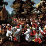 Marten van Cleve. Danza nuziale, 1570 - 1580 ca. Olio su tela, cm. 81,5 x 112,5. Joseph e Lieve Guttmann, New York