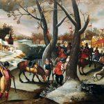 Marten van Cleve. Paesaggio invernale con la Strage degli innocenti, 1570 ca. Collezione privata, Belgio