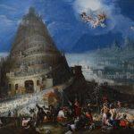 Marten van Valckenborch and Hendrick van Cleve. Torre di babele. Olio su tela. Berg Collection. Università di Stoccolma Art Collection, Svezia
